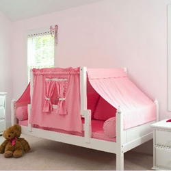 Girl Scouts Twin Bed with Tent