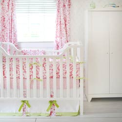 Bloom in Pink Baby Crib Bedding Set