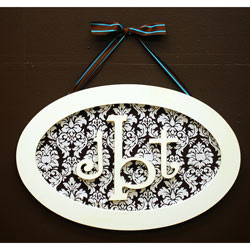 Oval Monogram Plaque