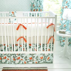 Personalized Feather Your Nest in Aqua Baby Bedding