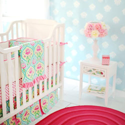 Personalized Layla Rose Baby Crib Bedding