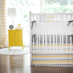 Personalized Mellow Yellow Crib Bedding