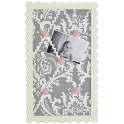 Scalloped Frame Mini Fabric Memoboard