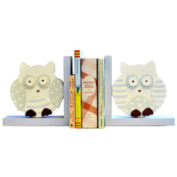 Owl Wooden Bookends