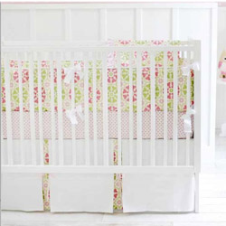 Pedal Pusher in Pink 3 Piece Crib Bedding