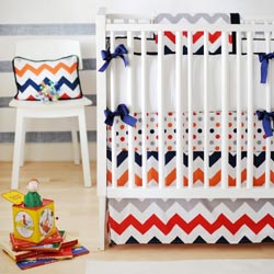 Rugby Chevron 3 Piece Crib Bedding Set