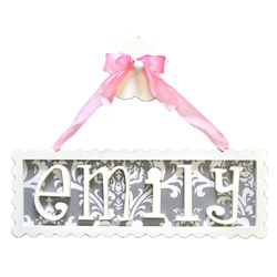 Scalloped Name Plaque