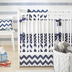 Personalized Zig Zag Baby Crib Bedding Set