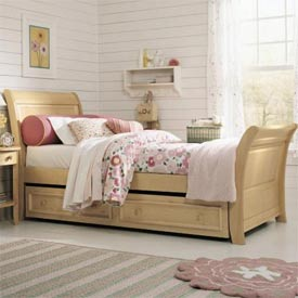 2nd Nature Sleigh Bed