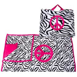 Zebra Pink Peace Nap Bag