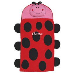 Personalized Ladybug Sleeping Bag