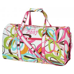 Personalized Floral Design Duffle Bag