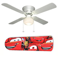 Red Disney's Cars Ceiling Fan