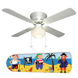 Little Boys Pirate Island Ceiling Fan