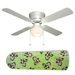 Green Monkey Business Ceiling Fan