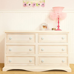 Taylor 6 Drawer Dresser with Scalloped Bottom