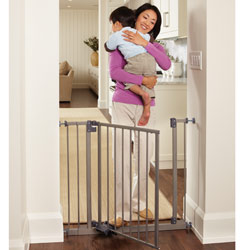 Slide-Step and Open Hands-Free Safety Gate