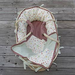 Polka Fun Moses Basket