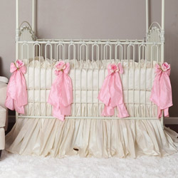 Celine Pink Crib Bedding