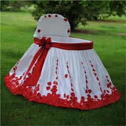 Rose Petal Silk Bassinet Set