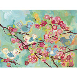 Cherry Blossom Birdies Wall Art