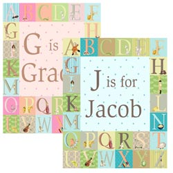 Classic Alphabet Personalized Canvas Art