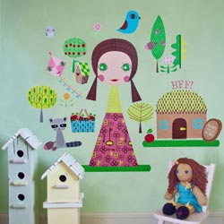 Paper Doll-Jilly Wall Decal