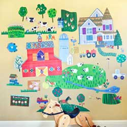 On the Farm Wall Decal
