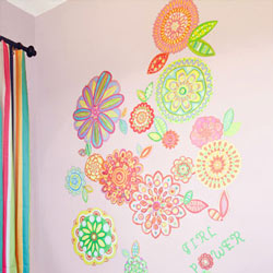 Radiant Flowers Wall Decal