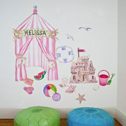 Seaside Cabana Wall Decal