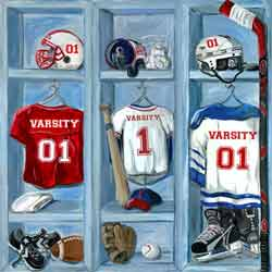 Sports Locker Wall Art