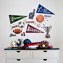 Vintage Sports Wall Decal
