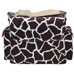 Cocoa/White Giraffe Messenger Bag