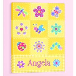 Flowerland Personalized Canvas Art