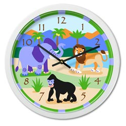 Wild Animals Wall Clock