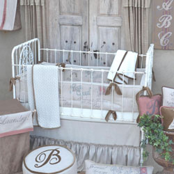 French Farmhouse Oliver Crib Bedding