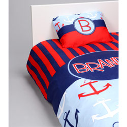 Personalized Anchors Toddler Bedding Set