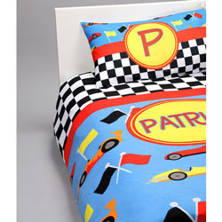 Personalized Race Car Bedding Set