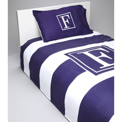 Bold Stripe Personalized Bedding Set