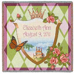 Personalized Princess Baby Blanket