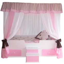 Polka Dot Princess Canopy Bed