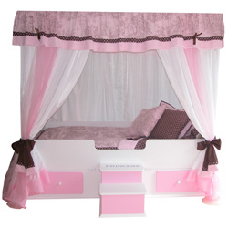 Toile Princess Canopy Bed