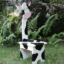 Whimsical Cow Chair