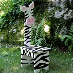 Whimsical Zebra Chair