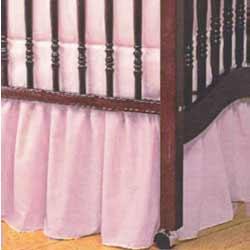 standard crib solid dust ruffles - Dust Ruffles