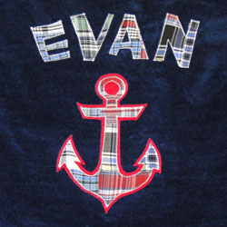 Personalized Anchor Ahoy Bath Towel