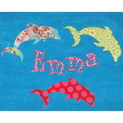 Personalized Dolphin Bath Towel