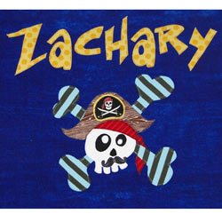 Personalized Pirate Skull Bath Towel