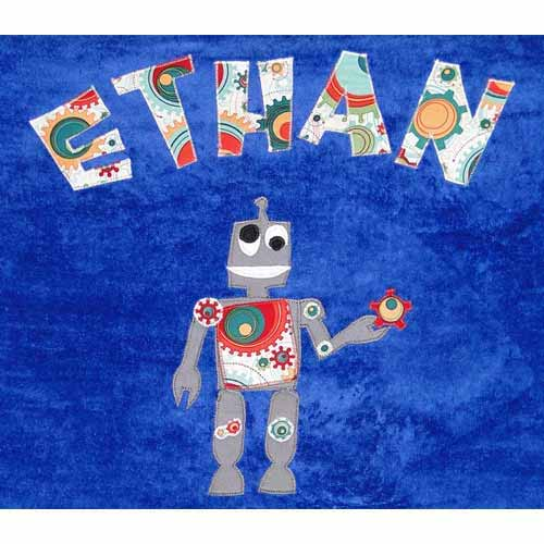 Personalized Robot Bath Towel
