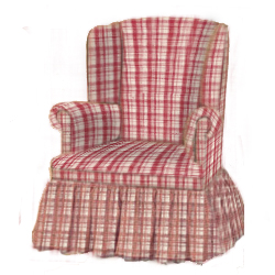 Plaid Swivel Glider Rocker